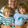 Record-Eagle/Jan-Michael Stump<br /> Greg Harrand and his three year-old twin daughters Elizabeth, left, and Kate.