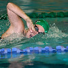Record-Eagle/Douglas Tesner<br /> Traverse City West's Shea Williams was on the winning 400 freestyle relay for the Titans.