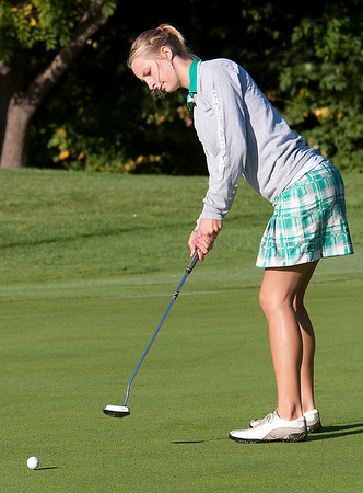 Record-Eagle file photo/Douglas Tesner<br /> Traverse City West's Gaby Muller will compete in the Division 1 state finals as an individual.