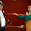 Record-Eagle/Loraine Anderson<br /> Grass River Center Director Debbie Hershey introduces Warren Studley, who first envisioned the Grass River Natural Area 42 years ago along with the education center that was dedicated Saturday in Antrim County.