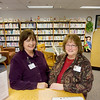 Record-Eagle/Keith King<br /> Robby Craig, left, Munson Community Health Library coordinator and librarian, and Carolyn Wallace, information research assistant, stand in the Munson Community Health Library.