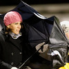 Record-Eagle/Jan-Michael Stump<br /> Gayle Bultsma, mother of Traverse City Christian soccer player Brett, tries to keep her umbrella intact while watching Wednesday's rainy, windy match between the Sabres and Northport.