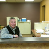 Record-Eagle/Jan-Michael Stump<br /> Pastor Peter Semeyn (cq) sits in the HelpLink offices in Faith Reformed Church -- located in the former Youth Ministry Building on the church's East Front Street campus -- where navigators work to connect people with services to help their needs.