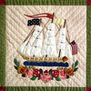 Record-Eagle/Jan-Michael Stump<br /> A detail from one of the two Baltimore Album quilts Marjorie Nelson will exhibit at the International Quilt Festival Nov 3-7 in Houston.