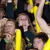 Record-Eagle/Jan-Michael Stump<br /> Traverse City Central fans cheer during Friday's game against Traverse City West