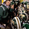 Record-Eagle/Douglas Tesner<br /> Traverse City West head coach Tim Wooer tries to give his team some encouragement during the third quarter of Friday night's game.