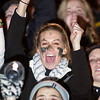 Record-Eagle/Jan-Michael Stump<br /> Traverse City Central fans cheer during Friday's win over Traverse City West.