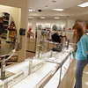 Record-Eagle/Jan-Michael Stump<br /> Jordan Hollister, of Nashville, Tenn., looks at jewelry in the renovated JCPenney store at the Grand Traverse Mall.