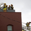 Record-Eagle/Keith King<br /> Firefighters respond to Hanna Bistro Friday, October 28, 2011.