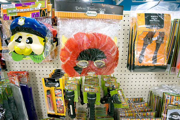 Record-Eagle/Keith King<br /> Halloween costumes and accessories are displayed at the Traverse City Goodwill store.