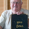 Record-Eagle/Jan-Michael Stump<br /> A Habitat for Humanity ReStore employee found a family Bible in a storage shed and returned it to Eli Haywood, who found insight into his family's past in notes found in the leatherbound pages.