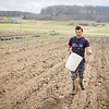 Record-Eagle/Keith King<br /> Reid Johnston, owner of Second Spring Farm in Leelanau County, plants Rye Monday, October 25, 2010 on his farm which will be used as a cover crop for winter cover.