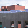 Record-Eagle/Jan-Michael Stump<br /> The Old Town Parking Deck features a photovoltaic array on top to help power the structure.