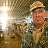 Record-Eagle/Douglas Tesner<br /> Dairy farmer Dean Edgecomb is among the Michigan farmers struggling with low milk prices.