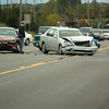 Record-Eagle/Jan-Michael Stump<br /> A two-car accident slows traffic on U.S. 31 at Fitzhugh Drive shortly before 4 p.m. on Friday afternoon. Police said there were no injuries.