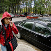 Record-Eagle/Keith King<br /> Michael Moore, of South Boardman, smokes a cigarette as he walks from the campus of Northwestern Michigan College toward his car.