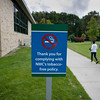 Record-Eagle/Keith King<br /> A sign thanking people for complying with Northwestern Michigan College's tobacco-free policy is displayed on the NMC campus.