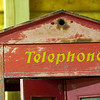 Record-Eagle/Jan-Michael Stump<br /> An old phone booth is stored at Peninsula Telephone Company.