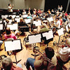 Record-Eagle/Keith King<br /> The Encore Wind Symphony rehearses Monday, September 27, 2010 in Milliken Auditorium on the campus of Northwestern Michigan College.
