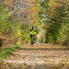 """Record-Eagle/Keith King<br /> Selden Kalbfleisch, of Traverse City, rides his bicycle Tuesday along the Leelanau Trail, part of  the TART Trails network, in Leelanau County. """"It's just beautiful,"""" Kalbfleisch said of the scenic ride."""