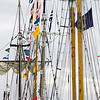 Record-Eagle/Keith King<br /> Masts are visible in the Duncan L. Clinch Marina on Saturday during the Michigan Schooner Festival.
