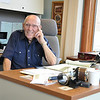 Record-Eagle/Vanessa McCray<br /> Bob Yeiter will leave his long-held post as secretary of the Rotary Club of Traverse City. Yeiter spends many mornings in the Rotary office, overlooking West Grand Traverse Bay and downtown Traverse City.