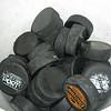 Record-Eagle/Jodee Taylor<br /> A bucket of pucks awaits Dave Harvey's peewee hockey team before practice.