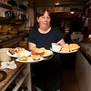 Record-Eagle/Douglas Tesner<br /> Janet Engelbertson serves up lunch at the Brookside Inn in Beulah, which could be closed next month after almost three decades of serving locals and visitors in Benzie County.