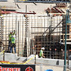 Record-Eagle/Jan-Michael Stump<br /> Construction progresses on Hagerty Insurance's 42,000-square-foot building on Lake Street in Traverse City's Old Town.