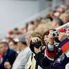 """Record-Eagle/Keith King<br /> Bob Vezino, of Lowell, takes pictures Saturday at Centre ICE. """"This is our third year up here,"""" Vezino said."""