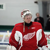 Record-Eagle/Keith King<br /> Chris Osgood is a familiar face to Red Wings fans. He's slated to be Jimmy Howard's backup.