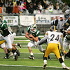 Record-Eagle/Keith King<br /> Traverse City West's Zac Shafer runs the ball against Traverse City Central at Thirlby Field.