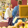 "Record-Eagle/Jan-Michael Stump<br /> Nancy Schwalm hands out samples of a recipe from the cookbook, ""What's For Dinner?"" at Oryana Natural Food Market."