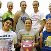 Record-Eagle/Lisa Perkins<br /> Buckley varsity members, back row, left to right, Courtney Heitmeyer, Caelin Runyon, Paige Gokey, Bailee Kuhn, Tarren Clous; front row, left to right, Felicia Wall, Haley Baldinger and Alesha Welling.