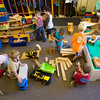 Record-Eagle/Jan-Michael Stump<br /> Students in the young 5's class play at Traverse City Cooperative Preschool.
