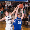 Record-Eagle/Jan-Michael Stump<br /> Traverse City St. Francis junior Sean Sheldon (3) has had several college coaches visit in the last few weeks.