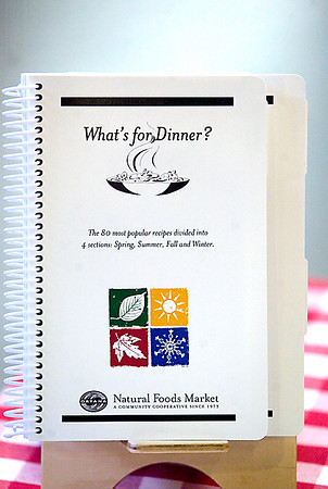 "Record-Eagle/Jan-Michael Stump<br /> ""What's For Dinner?"" cookbook from Oryana Natural Food Market."