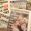 Record-Eagle/Jan-Michael Stump<br /> Cynthia Russell was in Ireland during 9/11, and saved a number of local newspapers from the days surrounding the terrorist attacks.