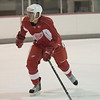 Record-Eagle/Jan-Michael Stump<br /> Red Wings prospect Landon Ferraro skates in drills Saturday.