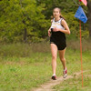 Record-Eagle/Jan-Michael Stump<br /> Traverse City Central's Julia Otwell finished second in 20:20 in Tuesday's Traverse City West Cross Country Invitational at Hickory Meadows.