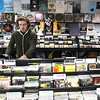 Record-Eagle/Keith King<br /> Nathan Meadows, of Lake Ann, browses Friday, April 8, 2011 at Sound It Out Records in Traverse City.
