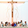 """Record-Eagle/Keith King<br /> A """"Living Last Supper,"""" based on Leonardo da Vinci's painting, """"The Last Supper,"""" is portrayed Sunday, Palm Sunday, at St. Patrick Catholic Church in Blair Township."""