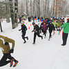 Record-Eagle/Keith King<br /> Runners begin an 11k race Saturday, April 13, 2013 during the Traverse City Trail Running Festival at Timber Ridge Resort.