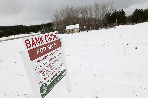 Record-Eagle/ Keith King<br /> Traverse City State Bank plans to sell a 15-acre piece of property along M-72 in Traverse City.