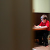 Record-Eagle/Jan-Michael Stump<br /> Alex Hentschel, 7, works on sentence writing.
