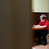 Record-Eagle/Jan-Michael Stump<br /> Alex Hentschel, 7, works on sentence writing.