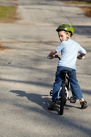 Record-Eagle/Jan-Michael Stump<br /> Owen Henderson, 5, who is autistic, learned to ride his bike without training wheels at an early age.