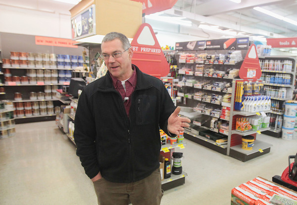 Record-Eagle/Keith King<br /> Brian Scott, co-owner of Mancelona Hardware and Rental, shares his thoughts regarding Mancelona.