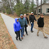 """Record-Eagle/Keith King<br /> Sharon Christensen, from left, of Traverse City, Patrick Demers, of Higgins Lake, Cheryl Dinger, of Traverse City, Don Stauffer, of Wellston and Dave Weaver, of Traverse City, walk on the TART Trail during the 'Earth Day hike on the TART Trail' event coordinated using the Northern Michigan Outdoors group on  <a href=""""http://www.meetup.com"""">http://www.meetup.com</a>. For more information regarding the group and upcoming events visit  <a href=""""http://www.meetup.com/NorthernMichiganOutdoors"""">http://www.meetup.com/NorthernMichiganOutdoors</a>."""
