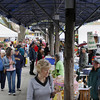 Record-Eagle/Keith King<br /> Vendors and shoppers gather Saturday, May 12, 2012 during the Sara Hardy Downtown Farmer's Market.